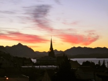 Bariloche at sunset